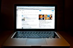 Google web search related to Silvio Berlusconi. MILAN, ITALY - DECEMBER 23, 2013: photo detail of laptop showing Google web search related to Silvio Berlusconi Royalty Free Stock Photos