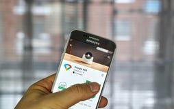 Google Wifi app Stock Image