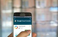 Google-Wolkenconsole app royalty-vrije stock afbeelding