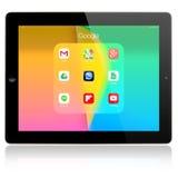 Google zastosowania na Jabłczanym iPad powietrzu Fotografia Royalty Free