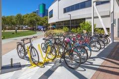 Googleplex bicycle campus Royalty Free Stock Photo