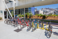 Googleplex bikes employees Stock Photos