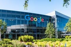 Googleplex - Google högkvarter i Kalifornien royaltyfri fotografi