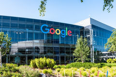 Googleplex - Google Headquarters in California. Mountain View, Ca USA May 7, 2017: Googleplex - Google Headquarters office buildings Royalty Free Stock Photography