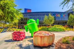 Googleplex Mountain View stock fotografie