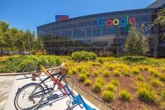 Googleplexfiets Mountain View royalty-vrije stock foto