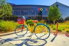 Googleplexfiets van werknemers royalty-vrije stock foto