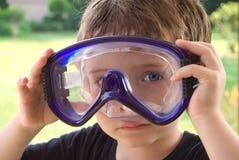 googles мальчика складывают носить вместе Стоковые Изображения