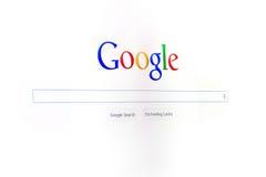 Googles neue Schnittstelle Stockbild