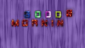 Googochtend, tekst, verf, glimlach, stock footage