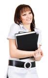 Gooi glimlachende student Stock Foto's