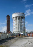 Goole's twin water towers Royalty Free Stock Photo