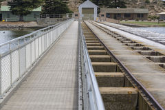 Goolwa Barrage & Lock, South Australia Royalty Free Stock Photo