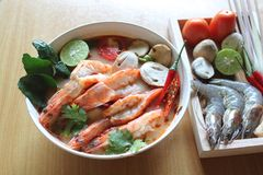 Goong de Tom Yum imagem de stock royalty free