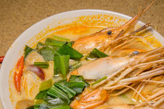 Goong de Tom Yum fotos de stock