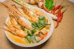 goong krewetki zupny korzenny Tom yum Zdjęcie Royalty Free
