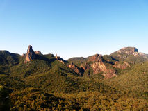 Goonoo State forrest mountains. From the top Royalty Free Stock Images