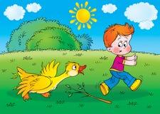 Goose. Children's illustration for yours design, postcard, album, cover, scrapbook, etc Royalty Free Stock Photos
