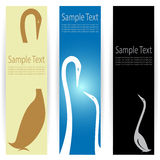 Goose banners Royalty Free Stock Images