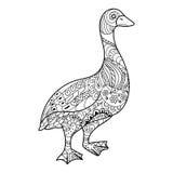 Goose coloring book vector illustration Royalty Free Stock Photos