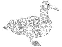 Goose coloring vector for adults Royalty Free Stock Photos