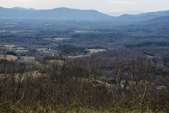 Goose Creek Valley. Elev. 2372 ft. from Montvale Overlook on the Blue Ridge Parkway, Virginia, USA located at mile 95.9 Stock Photos