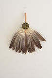 Goose feather fan. Is a fan made of goose feathers . Three Shujun Zhuge Liang in the novel and drama division of the image is typical lupine ( ie  ) Lun Royalty Free Stock Image