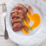 Goose fillet with orange sherry sauce Royalty Free Stock Photos