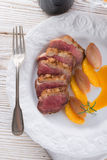 Goose fillet with orange sherry sauce Royalty Free Stock Photo