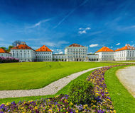 Goose in garden in front of the Nymphenburg Palace. Munich, Bava Royalty Free Stock Images