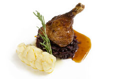 Goose leg honey sauce Royalty Free Stock Images