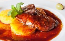 Goose liver dish Royalty Free Stock Photos