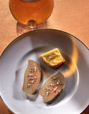 Goose liver poached in lager Royalty Free Stock Photography
