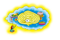 Goose maze Stock Images