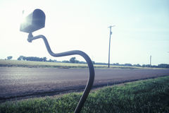 Goose-neck mailbox, KS Royalty Free Stock Image