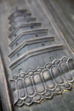 Goose pagoda embossing - close up Stock Images
