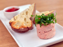 Goose pate with bread Royalty Free Stock Photo