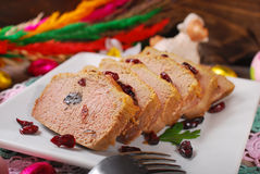 Goose pate with cranberries for easter Stock Photo