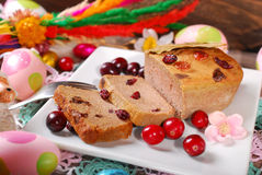 Goose pate with cranberries for easter Stock Image