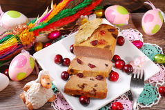 Goose pate with cranberries for easter Royalty Free Stock Photo
