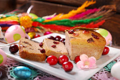 Goose pate with cranberries for easter Royalty Free Stock Photography