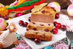 Goose pate with cranberries for easter Royalty Free Stock Image