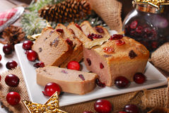 Goose Pate With Cranberries For Christmas Royalty Free Stock Photo