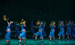 A goose shaped basket-Turtledove-Chinese folk dance. May 15, 2016, from Jiangxi province around the dancers gathered to exchange skills. At the Nanchang Royalty Free Stock Photos