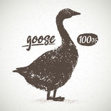 Goose Silhouette. Royalty Free Stock Photos