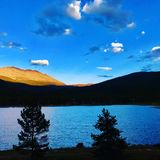 Goose tarn at high altitude Royalty Free Stock Images