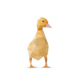 Goose in triangle style Stock Images