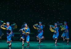 Goose type basket-Turtledove-Chinese folk dance Royalty Free Stock Photo