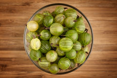 Gooseberries in bowl Stock Photo
