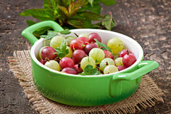 Gooseberries in a bowl Stock Photography